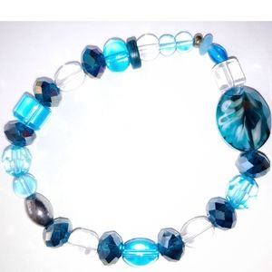 0166. Blue Glass Bracelet